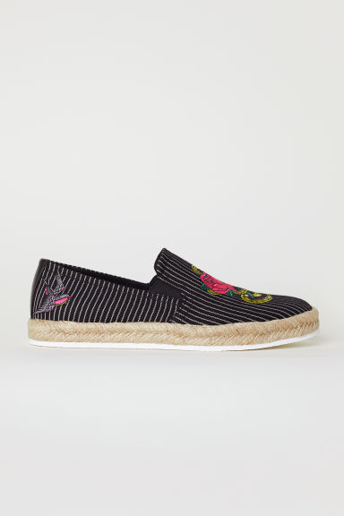 Espadrilles - Black/Striped - Men | H&M