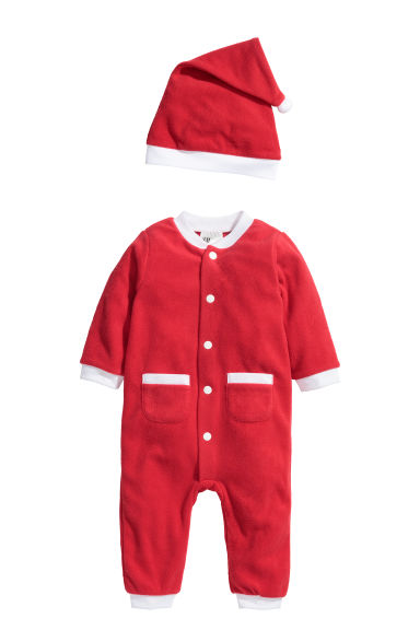 Fleece Santa costume Model
