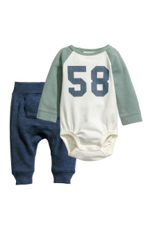 Jersey bodysuit and trousers