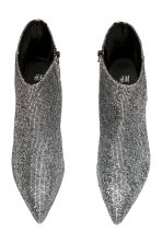 Ankle boots - Silver-coloured/Glitter - Ladies | H&M 2