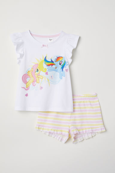 Jersey pyjamas - White/My Little Pony - Kids | H&M CN