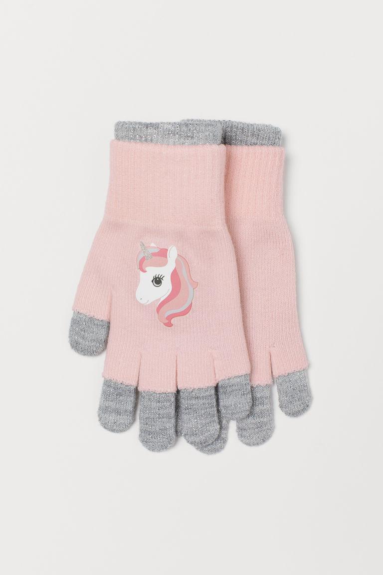 Gloves/Fingerless gloves - Light pink/Unicorn - Kids | H&M GB
