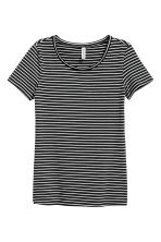 Jersey top - Black/White/Striped - Ladies | H&M 2