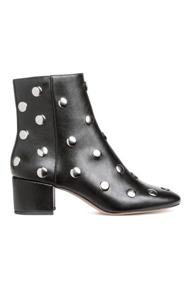 Ankle boots with studs - Black - Ladies | H&M IE