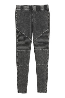 Bikerleggings i trikå