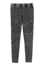 Jersey biker leggings - Black - Ladies | H&M 1