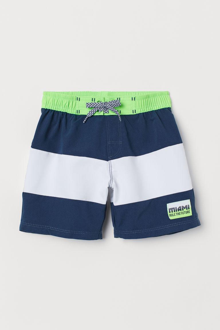 Swim shorts - Dark blue/White - Kids | H&M GB