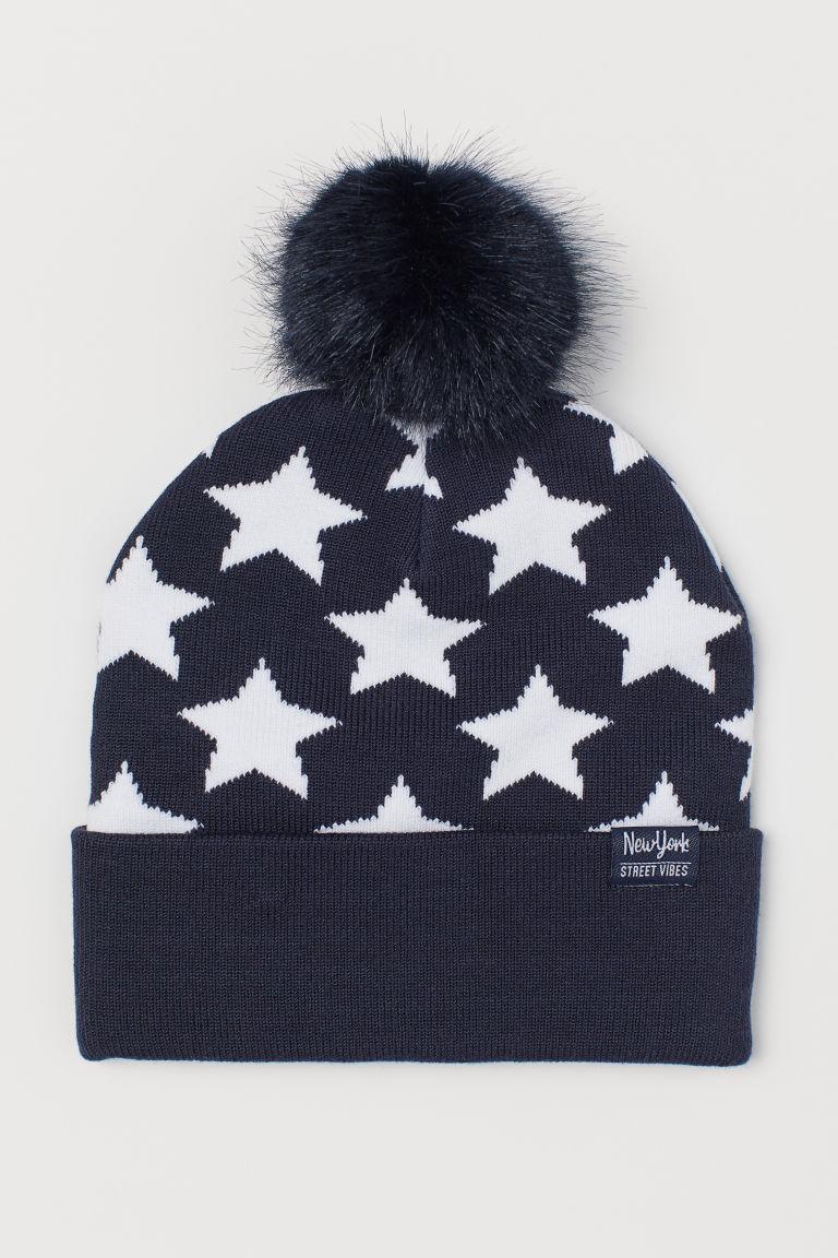 Jacquard-knit Hat