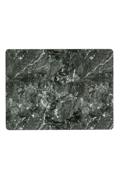 Marble-patterned table mat - Dark grey/Marbled - Home All | H&M IE