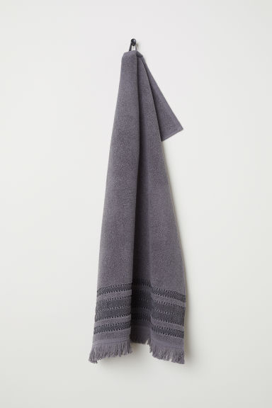 Striped hand towel - Grey - Home All | H&M CN
