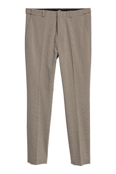 Suit trousers Skinny fit - Brown - Men | H&M