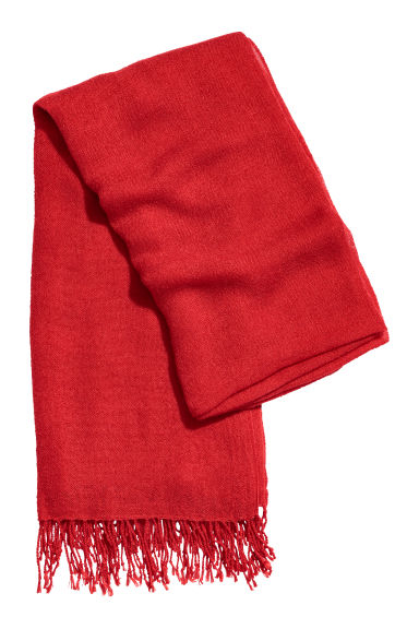 Woven scarf - Red - Ladies | H&M CN