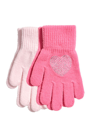 2-pack gloves - Pink -  | H&M GB