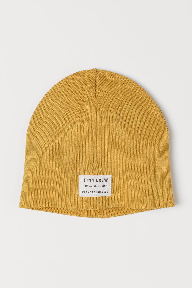 Ribbed cotton hat - Mustard yellow - Kids | H&M GB