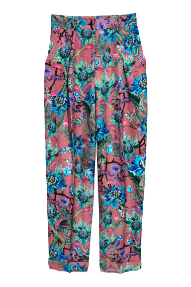 Patterned trousers - Mole/Patterned - Ladies | H&M
