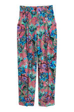 Patterned trousers - Mole/Patterned - Ladies | H&M GB 2