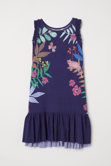 Dress with Printed Pattern