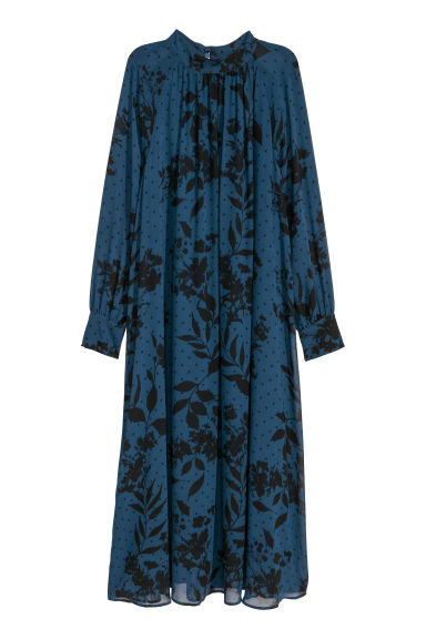 Abito in chiffon - Blu scuro - DONNA | H&M IT