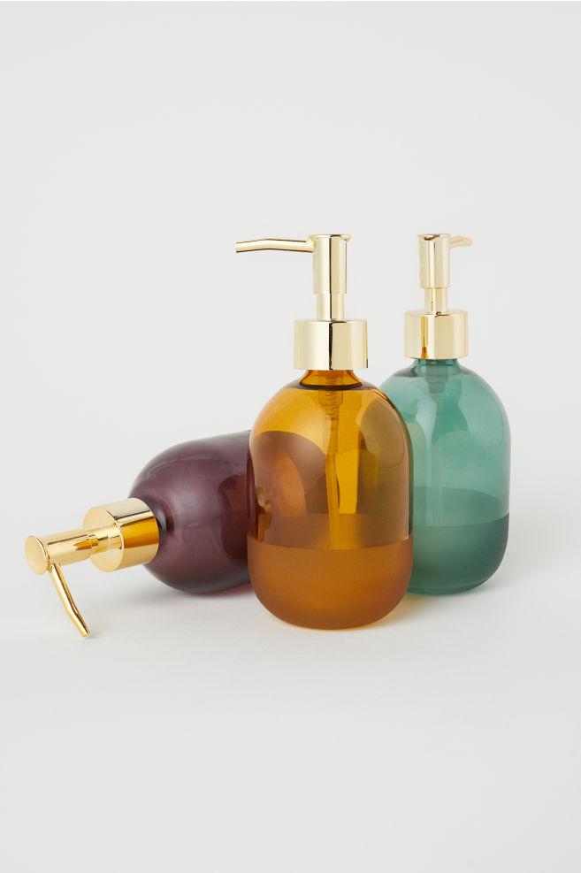 Glass Soap Dispenser - Dark green - | H&M US 2