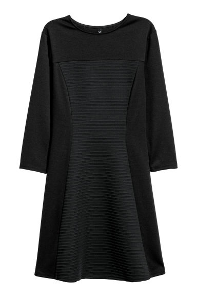 Ribbed jersey dress - Black - Ladies | H&M CN