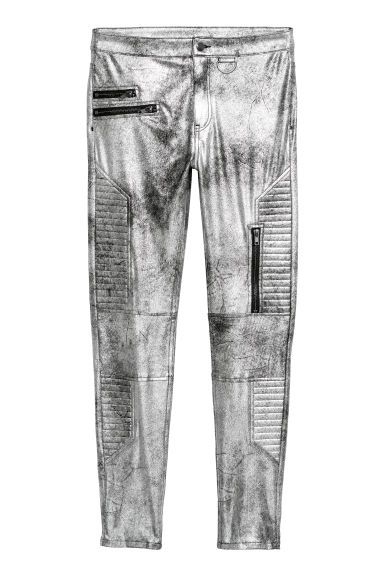 Biker trousers - Silver-coloured - Ladies | H&M