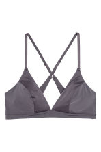 Non-wired bra - Dark grey - Ladies | H&M CN 2