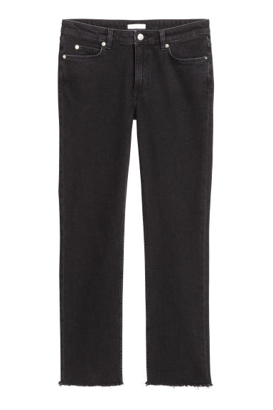 Slim Regular Ankle Jeans - Black - Ladies | H&M