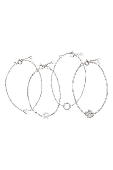 Bracelets, lot de 4 - Argenté -  | H&M BE