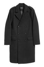 Wool-blend coat - Black - Men | H&M CN 2