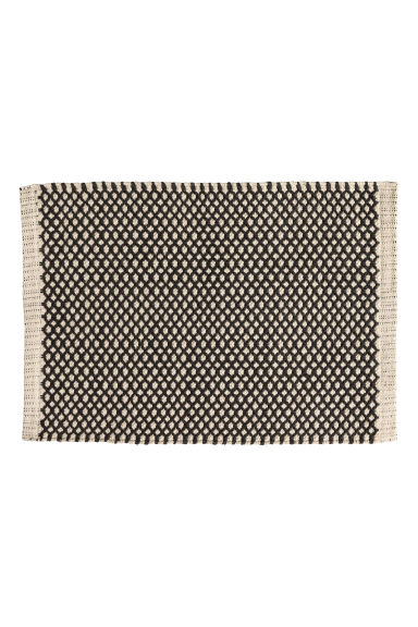 Jacquard-weave bath mat - Natural white/Anthracite grey -  | H&M IE
