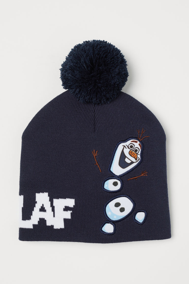 Hat with reversible sequins - Dark blue/Frozen - Kids   H&M GB