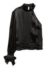 Satin top - Black - Ladies | H&M IE 2