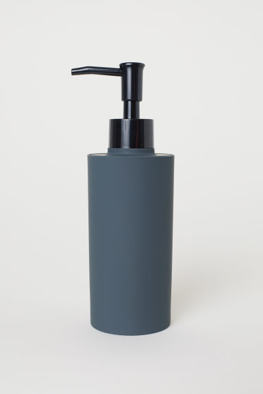 Matt plastic soap dispenser - Dark grey - Home All | H&M IE