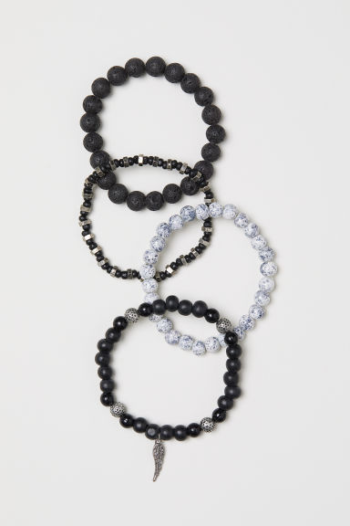 4-pack bracelets - Black/Multicoloured - Men | H&M