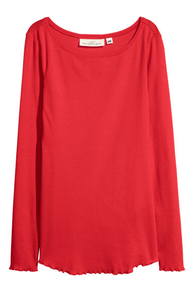 Jersey top - Red - Ladies | H&M
