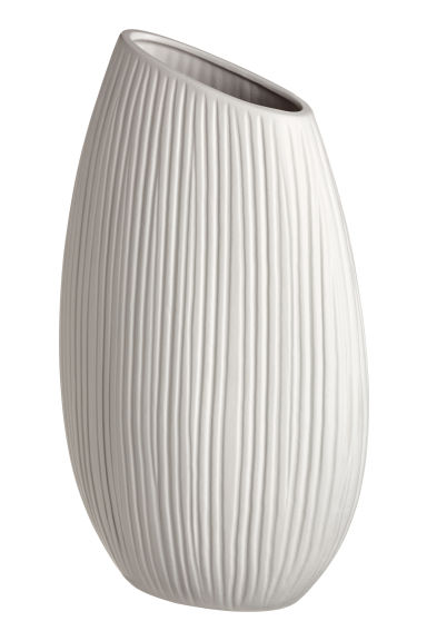 Ceramic vase - Natural white -  | H&M CN