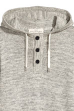Hooded fine-knit cotton jumper - Grey marl - Men | H&M GB 3