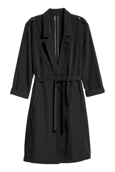 Lightweight trenchcoat - Black - Ladies | H&M