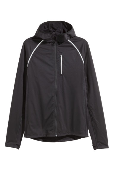 Hooded winter running jacket - Black - Men | H&M
