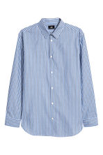 Cotton shirt Relaxed fit - Light blue/Striped - Men | H&M IE 2