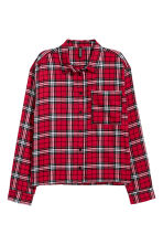 Short flannel shirt - Red/Black checked - Ladies | H&M 2