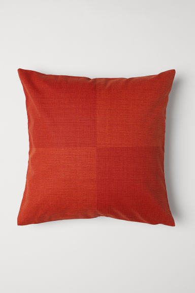 Copricuscino in tessuto flammé - Arancione scuro - HOME | H&M IT