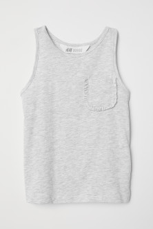 Vest top with a chest pocket
