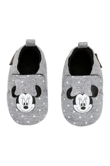 Chaussons - Gris chiné/Minnie - ENFANT | H&M FR 1