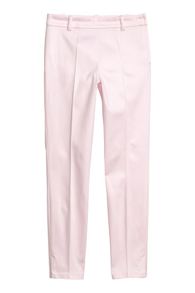Cigarette trousers - Light pink -  | H&M CN