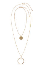 2-pack necklaces - Gold-coloured - Ladies | H&M 1