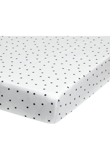 Fitted sheet - Grey/Spots - Home All | H&M IE