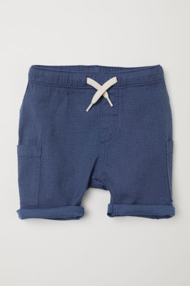 Shorts in misto cotone - Blu scuro -  | H&M IT