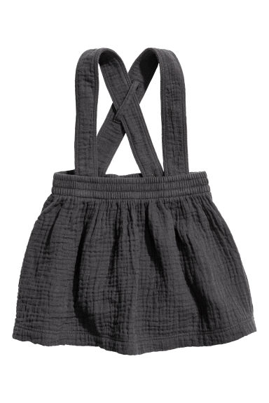Cotton skirt with straps Model