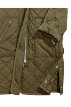 Quilted coat - Khaki green - Ladies | H&M 3